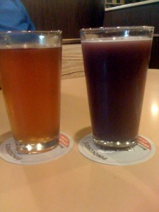 That would be the purple beer on the right